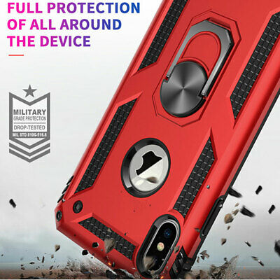Shockproof Military Armor Stand Hard Case Cover for iPhone XS Max X XR 7 8 Plus