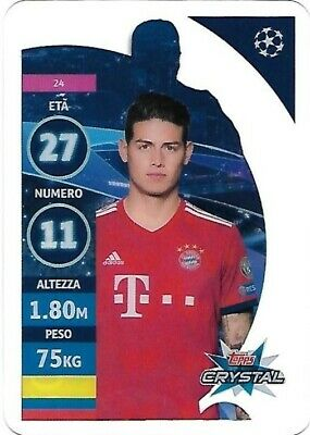 Topps Crystal Champions League 2019 - N.24 J. Rodriguez Bayern Munchen Card New