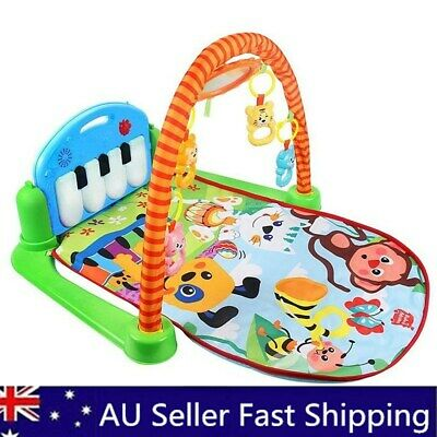 Cute 3-in-1 Rainforest Musical Lullaby Baby Activity Playmat Gym Toy Play Mat