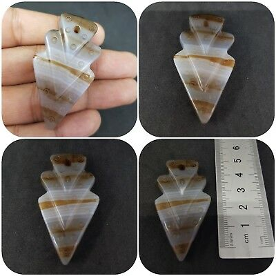sulemani yemani rare color old banded Arrow agate pendant beads #