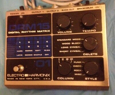 Electro Harmonix DRM 15 Vintage Drum machine VERY RARE 1982