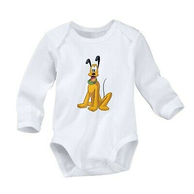 Pluto The Pup Dog Romper Cute Newborn Baby 0-24 Months Girl Boy Long Sleeve 649