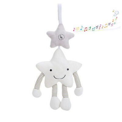 Newborn Infant Baby Pram Bed Stroller Hanging Toy Rattles Star Plush Doll WE