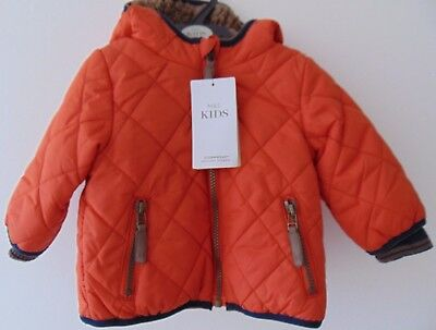 Marks & Spencer Baby Boys 3-6 Mths Dark Orange Hooded Storm Wear Coat RRP £24