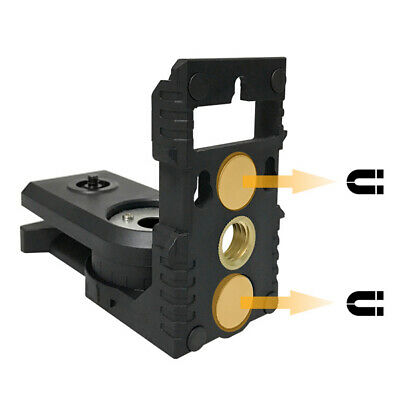 Bracket Magnetic Portable Wall Mount Rotatable Level Meter Adapter Stable Holder