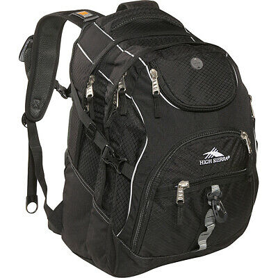 "High Sierra Access Laptop Backpack - 17"" - Black Business & Laptop Backpack NEW"