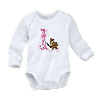 The Pink Panther Romper Cute Newborn Baby 0-24 Months Girl Boy Long Sleeve 714