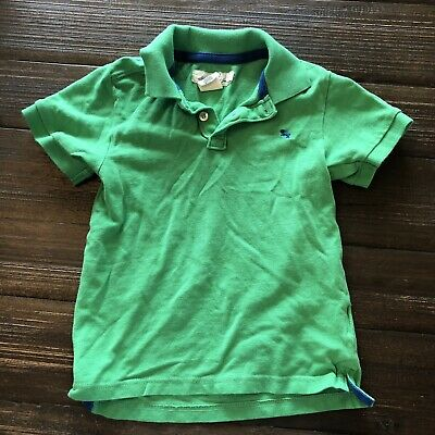 6dda2c8ca BOYS H&M LOGG Long Sleeve Polo Shirt Sz 6 8 Blue White Collar GUC ...