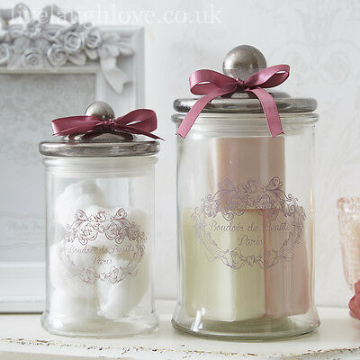 Glass Jars French Style - PAIR