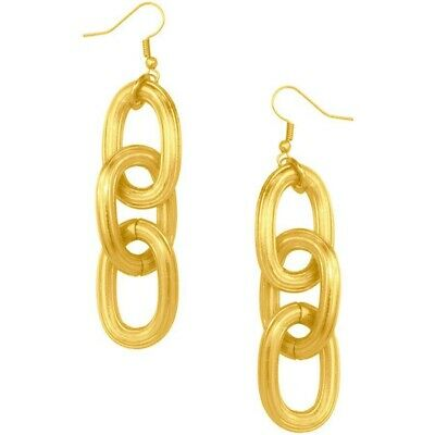 24k Gold Plated Karine Sultan Vintage Style Chain Link Earrings