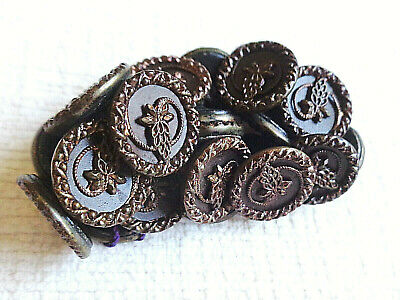 """Lot Of 21+ Matching Set Antique Victorian Metal Buttons  Pristine 1/2"""""""