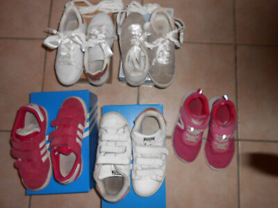 LOT 5 PAIRES baskets GAZELLE roses STAN SMITH ADIDAS