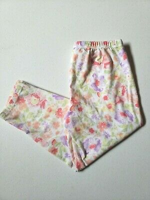MISS ATTITUDE Girls Casual Multi-Colored Floral Print Capri Soft Pants Sz 10/12