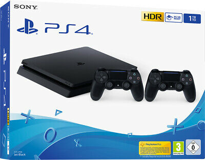 Console Sony Ps4 1Tb F Chassis Slim + 2 Controller Dualshock V2 Playstation 4