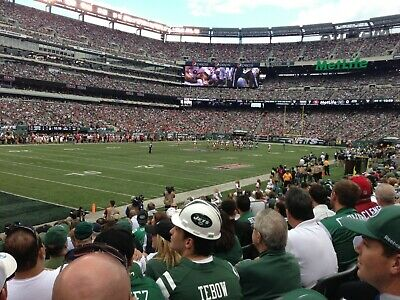 New York Jets Season Tickets! Sec 118 Row 10! Aisle seats! Parking Included!