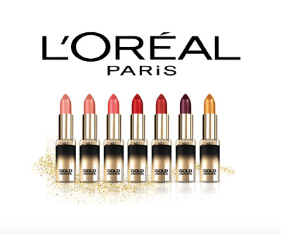 Loreal Color Riche Gold Obsession Lipstick Choose Your Colour * Brand New *