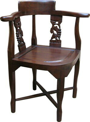 Solid Mahogany Corner Chair Antique Reproduction CHR024