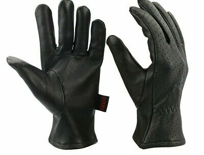 Men's Leather Warm Gloves Breathable Elastic Wrist Hand Wears Comfortable Mitten