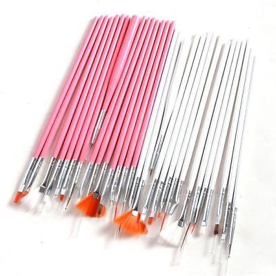 Lots 15pcs Nail Art Paint Dot Draw Pen Brush for UV Gel DIY Beauty Tools WE