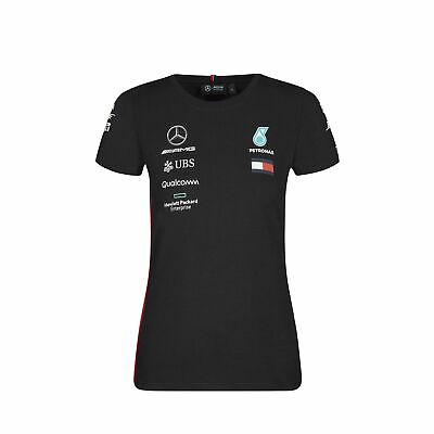 2019 Mercedes-AMG F1 Official Ladies Fitted Team T-Shirt TEE for Women and Girls