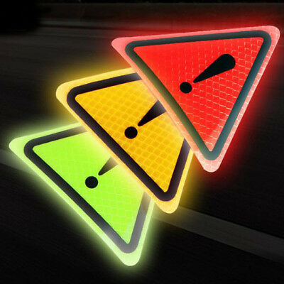 Car Reflective Multi-color Danger Warning Exclamation Mark Sign Vinyl Sticker WE