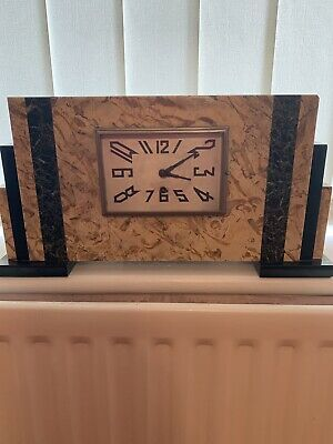 Art Deco Marble Cased Mantle Clock