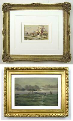 Two Early 20th Century Marine Paintings- H.G.Hutton Scarborough & E.T.Dunne 1913