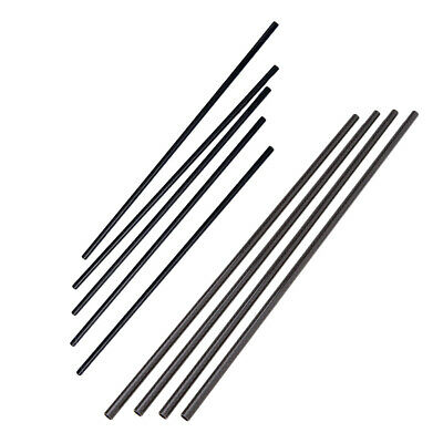 9pcs Black Carbon Fiber Tube Pipe for RC Airplane Quadcopter or Kite Parts