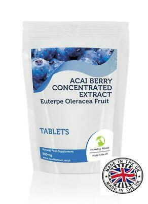 Acai Berry Extract 500mg Tablets Supplements Pills