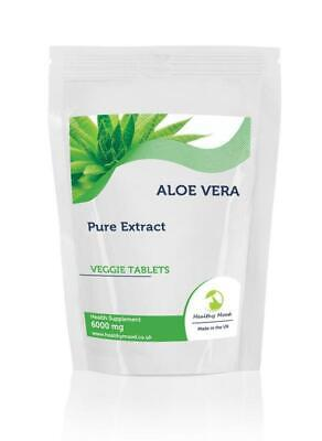 Aloe Vera Extract 6000mg x250 Tablets Letter Post Box Size