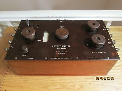 H Tinsley & Co Ltd Vintage Potentiometer Type 3387B