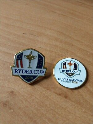 100% Official Merchandise ryder cup france 2018 Ball Markers NEW.