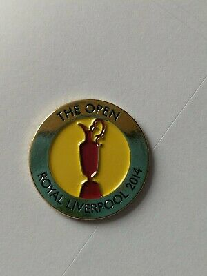 THE OPEN Royal Liverpool 2014  metal Ball Marker NEW 100% Official Merchandise