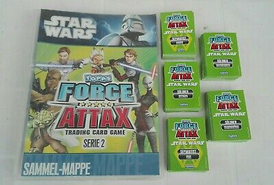 Star wars topps Force Attax serie 2 album + 250 figurine
