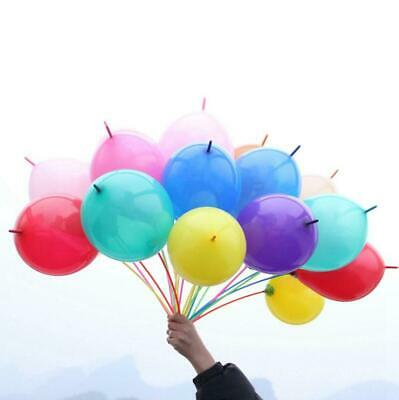 100pcs Latex Link-O-Loon Linking Balloons Wedding Party Decor Kids Toy Gift
