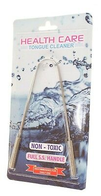 Health Care Tongue Cleaner Non Toxic Full S.s Handle Daily Use New
