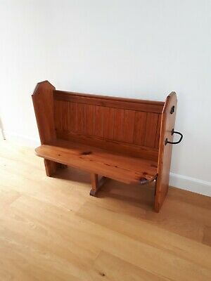 Small Pine Church pew,excellent condition. Length 1280mm , height 1020mm.