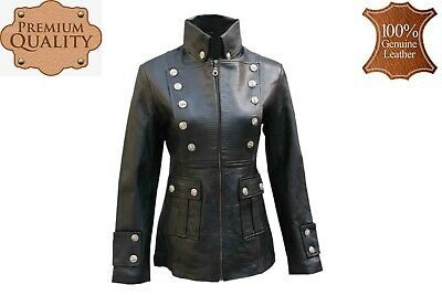 Women Ladies Real Leather Short Coat Supper Fit Sheep Leather Waxed UK Seller