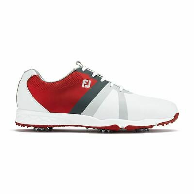 Footjoy Mens Energize Golf Shoes 58119 Waterproof leather White Red