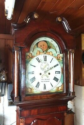 A beautiful Georgian Mahogany Moon dial Longcase Grandfather Clock C1830