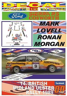 DECAL FORD SIERRA RS COSWORTH M.LOVELL ULSTER R. 1989 DnF (03)