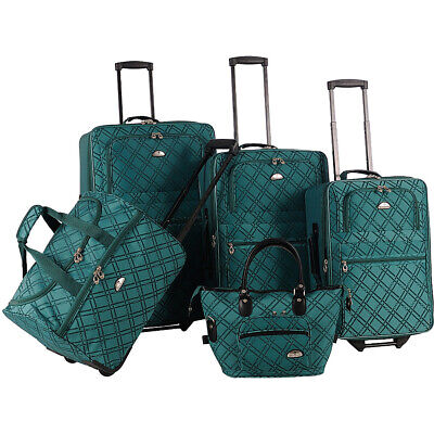 American Flyer Pemberly 5 Piece Buckles Set 4 Colors Luggage Set NEW