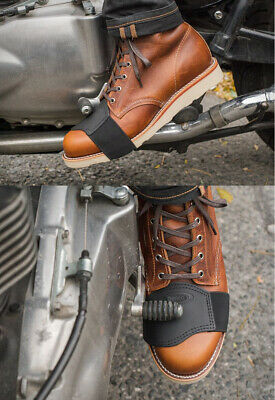leather motorbike/motorcycle boots/shoe pad protector gear shifter for all shoe