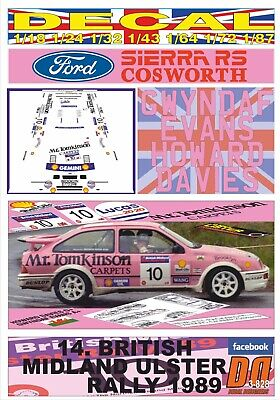 Decal Ford Sierra Rs Cosworth G.evans Ulster R. 1989 Winner (03)