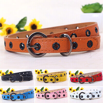 Candy color Kids belt Children Kids Boys Toddler PU Leather Buckle Waistbelt