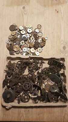 Job Lot of Antique Clock Parts, Wheels, Gears, Cogs for Spares