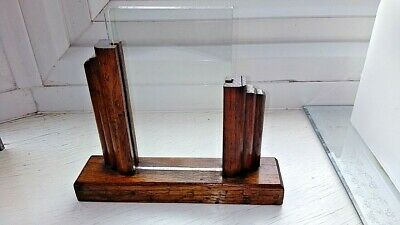 Vintage Art Deco Oak Photo Frame Double Sided (2 Glass)