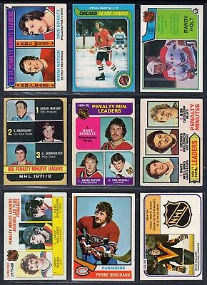 260+ Fighter tough guy hockey card lot RC's Probert O'Reilly OPC 14th CCE! 1969-