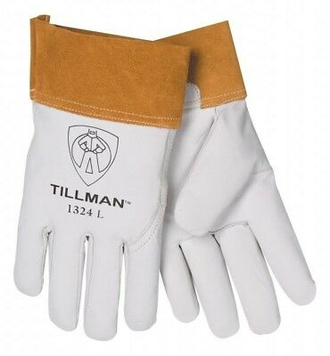 "Tillman 1324 Large  2"" Cuff Welding Kidskin Goatskin leather TIG Gloves"