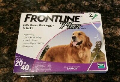 Merial Frontline Plus Flea and Tick Control for 45 to 88 Pound / 2 Applications